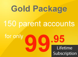 Package Gold (150 Parent Accounts)